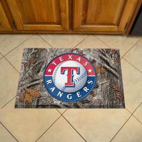 Texas Rangers Camo Scraper Mat