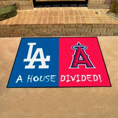 MLB House Divided Mat Dodgers-Angels