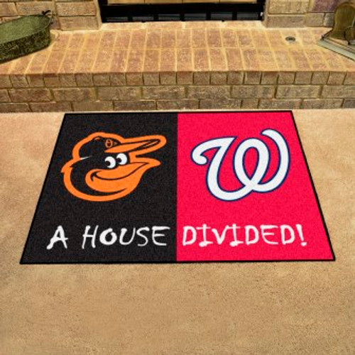 MLB House Divided Mat Orioles-Nationals