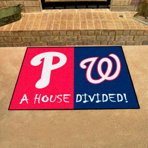 MLB House Divided Mat Phillies-Nationals