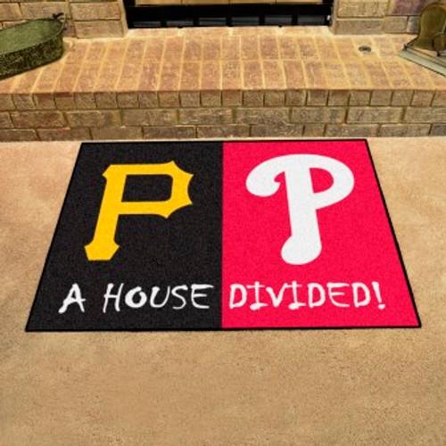 MLB House Divided Mat Pirates-Phillies