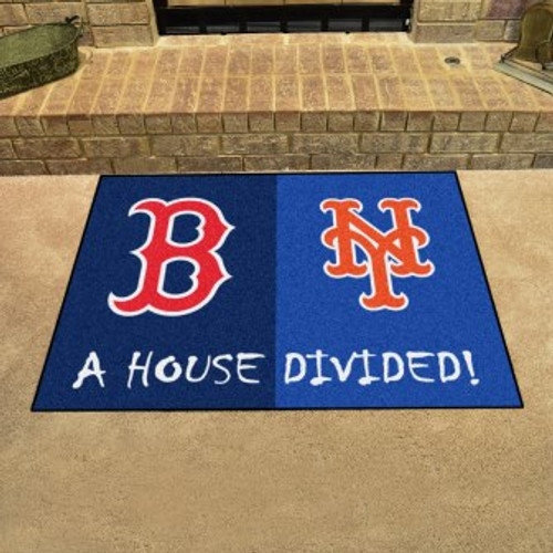 MLB House Divided Mat Red Sox-Mets