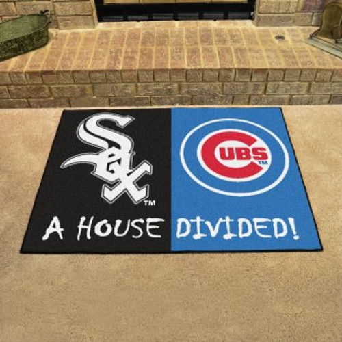 MLB House Divided Mat White Sox-Chicago Cubs