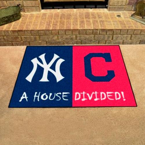 MLB House Divided Mat Yankees-Indians