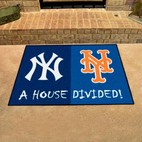 MLB House Divided Mat Yankees-Mets
