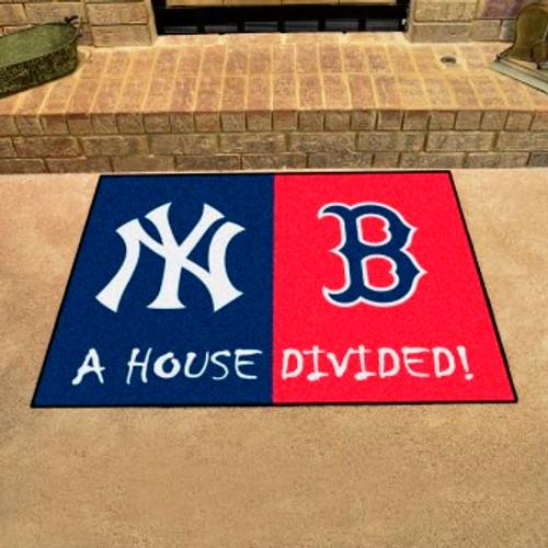 MLB House Divided Mat Yankees-Red Sox