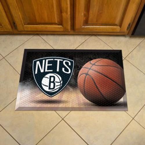 Brooklyn Nets Basketball Scraper Mat