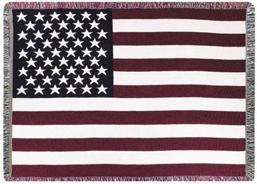USA Flag Layered Throw