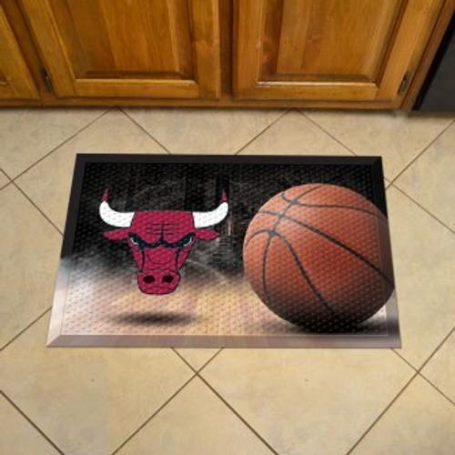 Chicago Bulls Basketball Scraper Mat