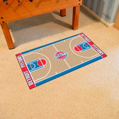 Detroit Pistons NBA Court Large Runner