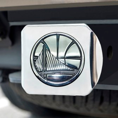 Golden State Warriors Chrome Hitch Cover
