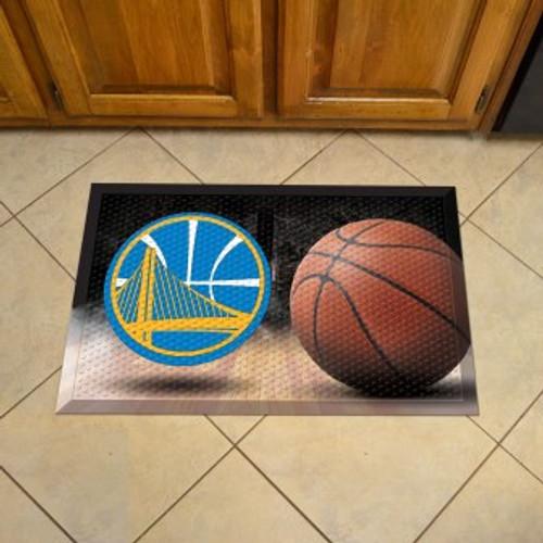 Golden State Warriors Basketball Scraper Mat