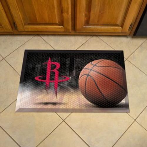 Houston Rockets Basketball Scraper Mat