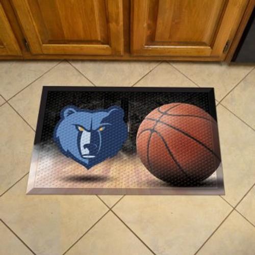 Memphis Grizzlies Basketball Scraper Mat