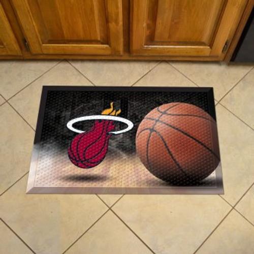 Miami Heat Basketball Scraper Mat