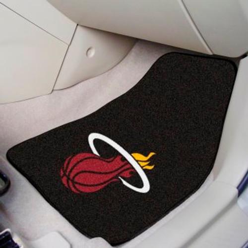 Miami Heat Black Carpet Car Mat Set
