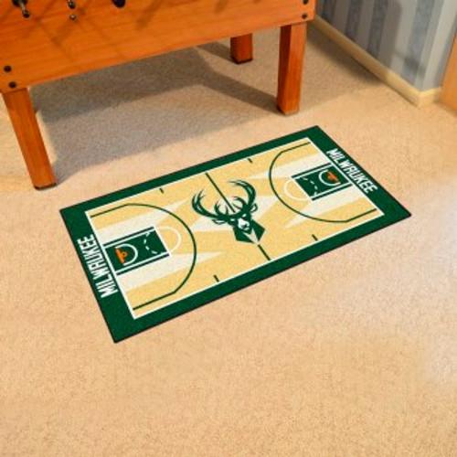 Milwaukee Bucks NBA Court Large Runner