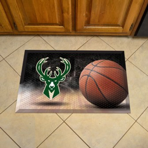 Milwaukee Bucks Basketball Scraper Mat
