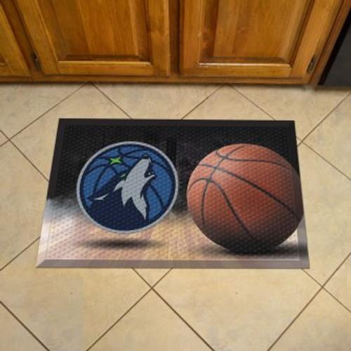 Minnesota Timberwolves Basketball Scraper Mat