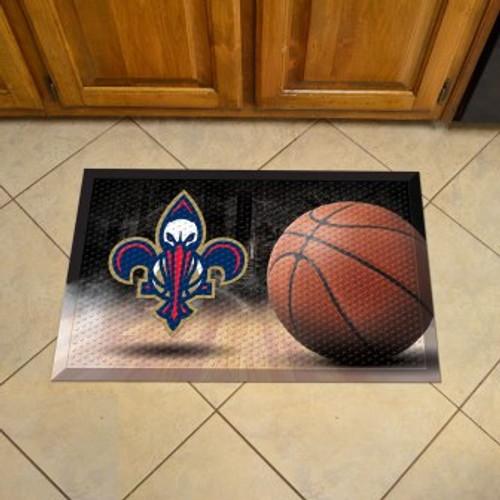 New Orleans Pelicans Basketball Scraper Mat