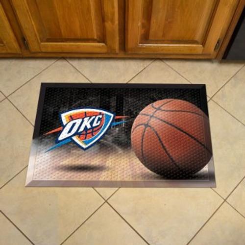 Oklahoma City Thunder Basketball Scraper Mat