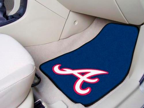 Atlanta Braves 2-pc Carpet Car Mat Set
