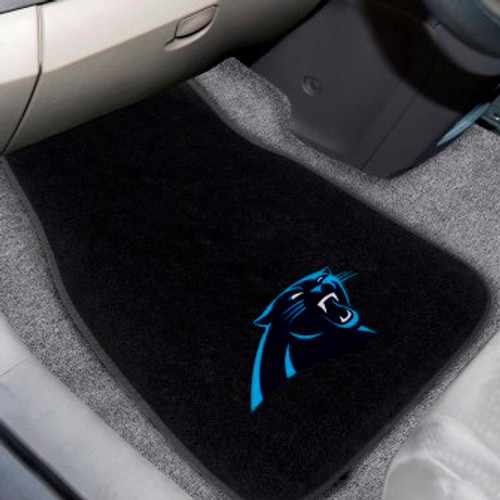 Carolina Panthers Black 20x48 Embroidered Seat Cover FANMATS 21502 NFL