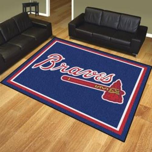 Atlanta Braves 8x10 Rug