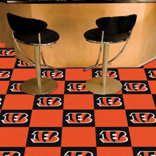 Cincinnati Bengals Team Carpet Tiles