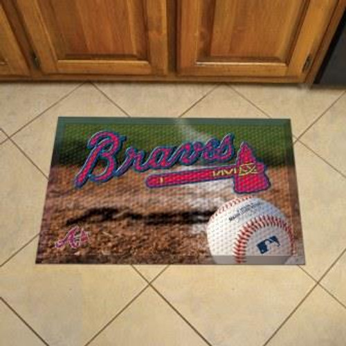 Atlanta Braves Baseball Scraper Mat