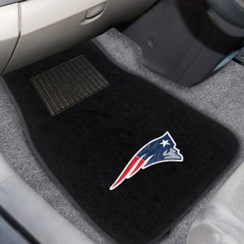 New England Patriots 2-pc Embroidered Car Mat Set