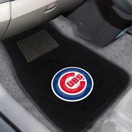 Chicago Cubs 2-pc Embroidered Car Mat Set