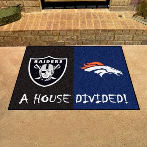 NFL House Divided Broncos-Raiders Mat