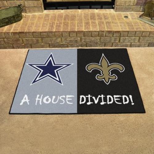 NFL House Divided Cowboys-Saints Mat