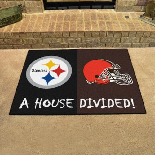 NFL House Divided Steelers-Browns Mat