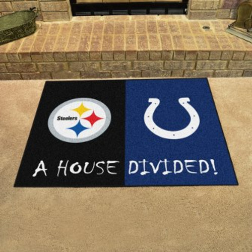 NFL House Divided Steelers-Colts Mat
