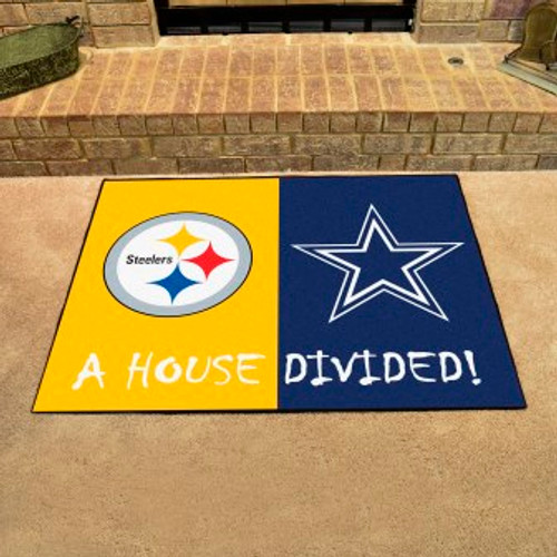 NFL House Divided Steelers-Cowboys Mat