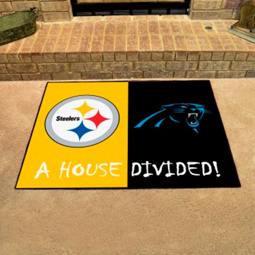 NFL House Divided Steelers-Panthers Mat
