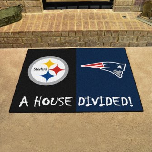NFL House Divided Steelers-Patriots Mat