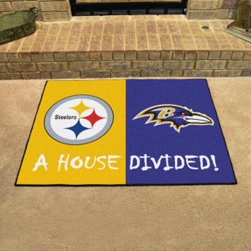 NFL House Divided Steelers-Ravens Mat