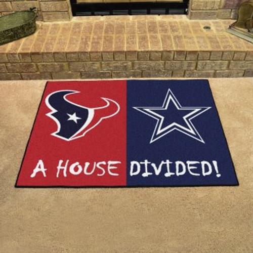 NFL House Divided Texans-Cowboys Mat