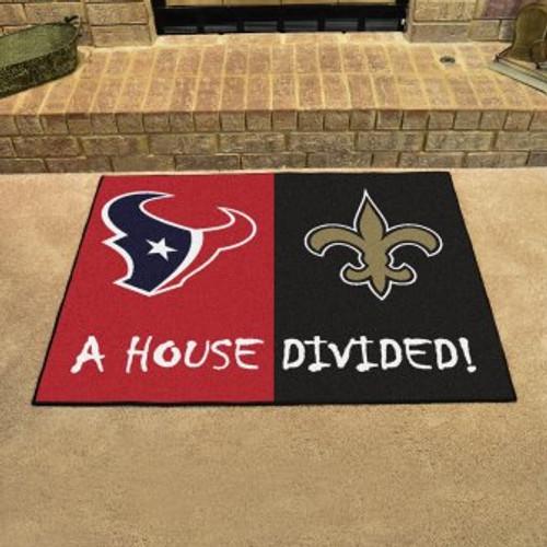 NFL House Divided Texans-Saints Mat
