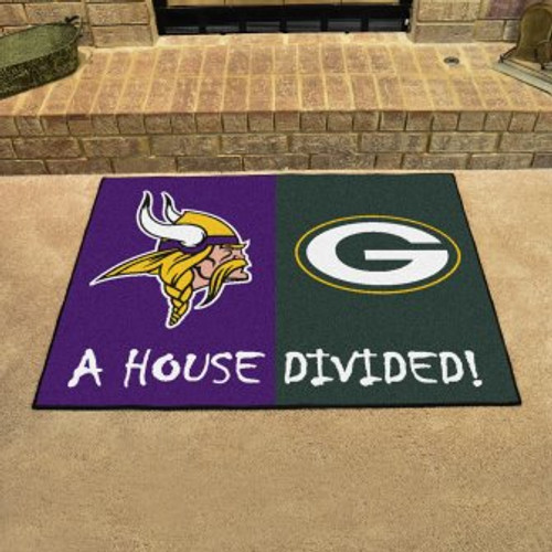 NFL House Divided Vikings-Packers Mat