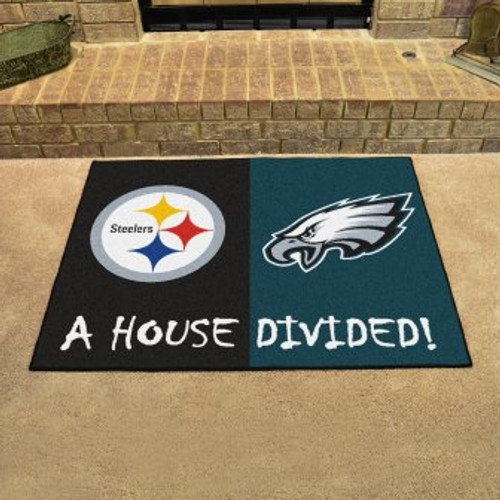 NFL House Divided Steelers-Eagles Mat