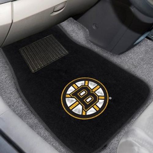 Boston Bruins 2-pc Embroidered Car Mat Set