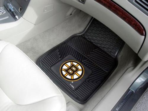 Boston Bruins 2-pc Vinyl Car Mat Set