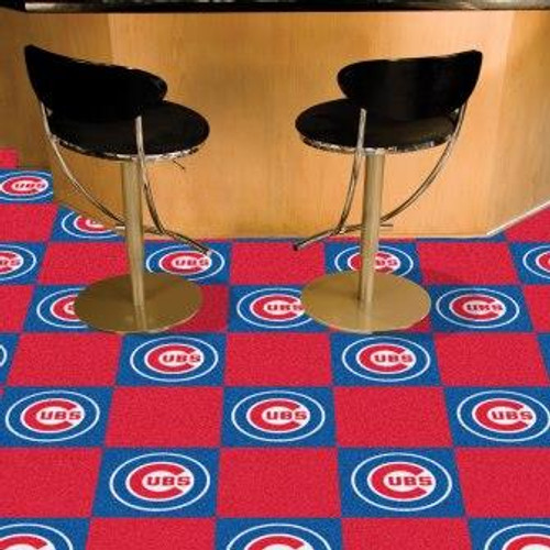 Chicago Cubs Team Carpet Tiles