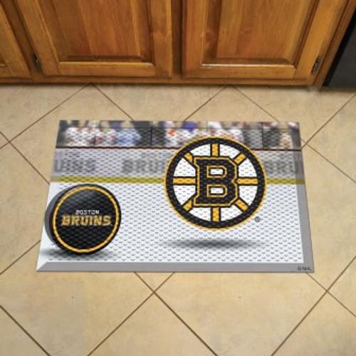 Boston Bruins Hockey Scraper Mat