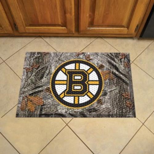 Boston Bruins Camo Scraper Mat