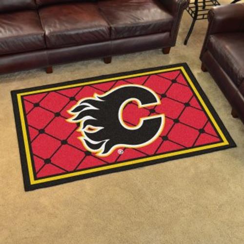 Calgary Flames Logo 4x6 Rug